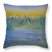 Young Mountains In Lofoten. Throw Pillow