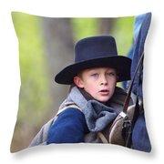 Young Solider Throw Pillow