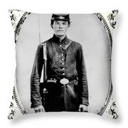 Young Union Soldier Throw Pillow