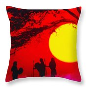 Young Warriors Throw Pillow