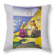 Young Women Of Provence At The Well-1892 Throw Pillow