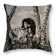 Younger Me Throw Pillow by Denise Tomasura