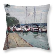 Youngstown Yachts Throw Pillow