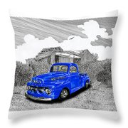 Your 1952 F 100 Pick Up In N M  Throw Pillow