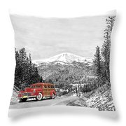 1946 Ford Special Deluxe Woody On Apache Summit Throw Pillow