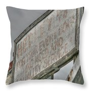 Your Every Boating Need Throw Pillow