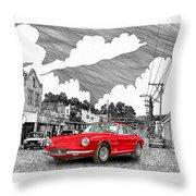 Your Ferrari In Tularosa N M  Throw Pillow