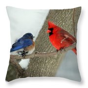 Your Nest Or Mine Throw Pillow
