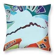 Your Reality Or Mine. Realities Vis-a-vis Or When A Rupture Matters Throw Pillow
