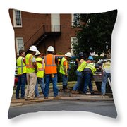 Your Tax Dollars At Work Throw Pillow