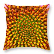 Inside Close Up Of Purple Conehead Throw Pillow