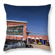 You're Here Throw Pillow