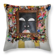 You're Standing In My Eye - Framed Throw Pillow