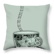You're The Cream In My Coffee Valentine Throw Pillow
