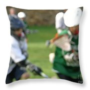 Youth Lacrosse Throw Pillow