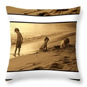 Youth Tryptich Throw Pillow