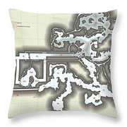 Yrchyn The Tyrant Kobold Lair Map Throw Pillow