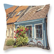 Ystad Cottages Throw Pillow