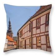 Ystad Crescent Street Throw Pillow