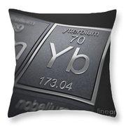 Ytterbium Chemical Element Throw Pillow