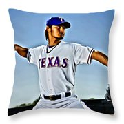 Yu Darvish Painting Throw Pillow