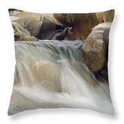 Yuba River Granite Throw Pillow