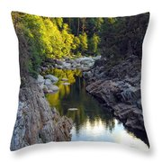 Yuba River Twilight Throw Pillow