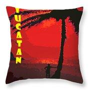 Yucatan Caribbean Throw Pillow