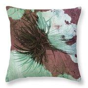 Yucca Abstract Sage And Mauve Throw Pillow