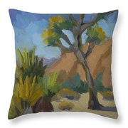 Yucca And Joshua Throw Pillow