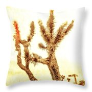 Yucca At Ave. J And 187 St. Throw Pillow