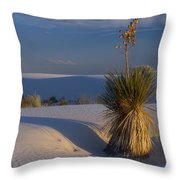 Yucca At White Sands Throw Pillow