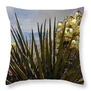 Yucca Blooms Throw Pillow
