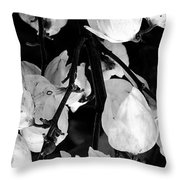 Yucca Flowers Throw Pillow