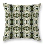 Yucca White Pattern Throw Pillow