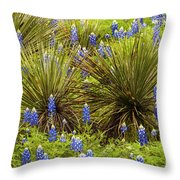 Yucca With Bonnets Throw Pillow