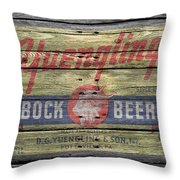 Yuengling Bock Beer Throw Pillow