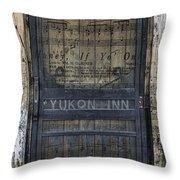 Yukon Inn Paradise Michigan Throw Pillow