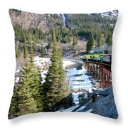 Yukon Railroad 3 Throw Pillow