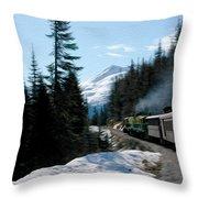 Yukon Railroad Throw Pillow