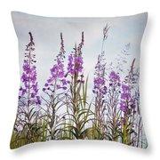 Yukon State Flower Throw Pillow