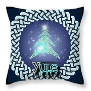 Yule Festival Throw Pillow