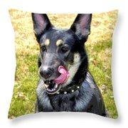 Yum - Luther Fine Art Throw Pillow