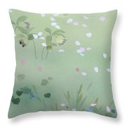 Yumezakura Crop Throw Pillow