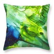 Yupo Blue Ice Throw Pillow