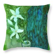 Yupo Flower On Chair Throw Pillow