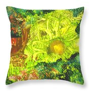 Yupo Flower2 Throw Pillow