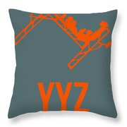 Yyz Toronto Airport Poster Throw Pillow by Naxart Studio