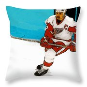 Yzerman Stick Throw Pillow