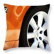Z Emblem Wheel Throw Pillow